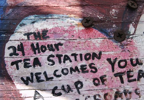 24 hour tea station, Share-it Square, Portland