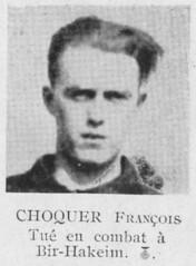 RFM - François CHOQUER (Jean QUinuis- Livre d'or des Français Libres)