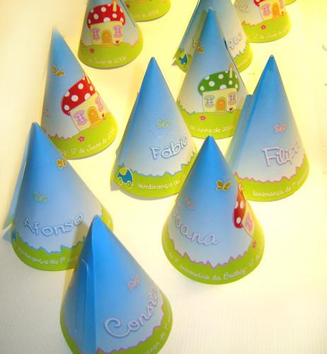 Chapéus personalizados de aniversário