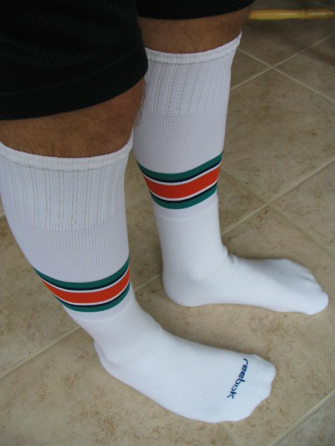 Sock fetish over the calf
