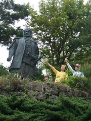 20060506 上杉謙信像と共に!!