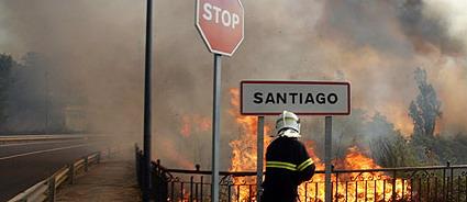 Fuego en Santiago de Compostela