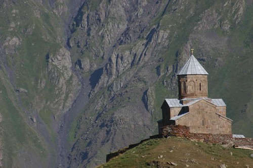 The Tsminda Sameba church, Kazbegi