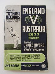 "Compiled by James Rivers, ""Complete Test Match Records - England v Australia"""
