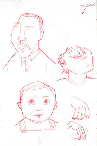 sketches of some guys and ezra