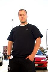 Backlit Ivan (and his car)