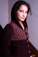 hooded cardigan for jca crafts, fall 2006