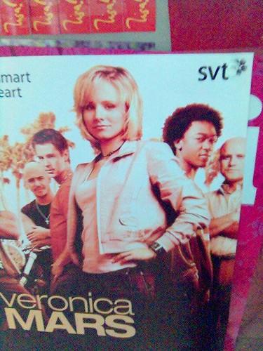 Affisch för 'Veronica Mars' på anslagstavla på LiU:s campus i Norrköping
