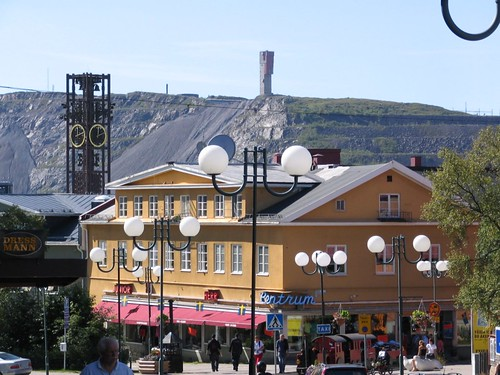 Kiruna-view with mine