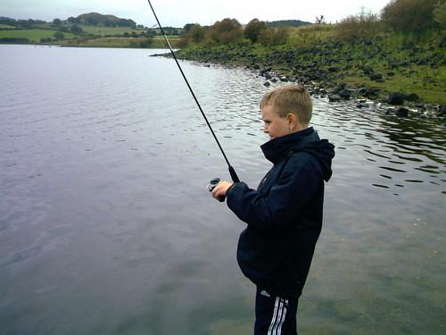 Fishing, Reservoir Barrhead East Renfrewshire (02/09/06)