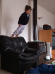 high jump by daughter