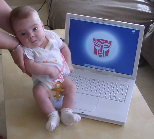 Hasta los bebés prefieren Apple!