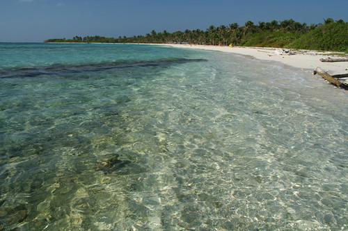 Playa en el Parque Nacional de Morrocoy