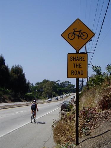 cyclist on PCH