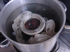保存瓶の滅菌