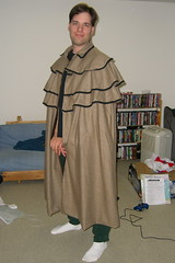 Andrew in his new cloak