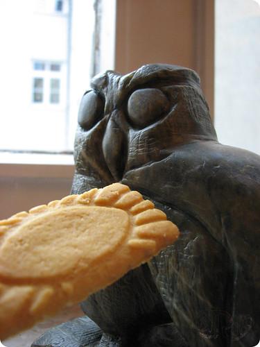 Escultura - Búho y galleta