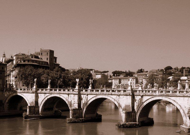 El puente sobre el río Tíber