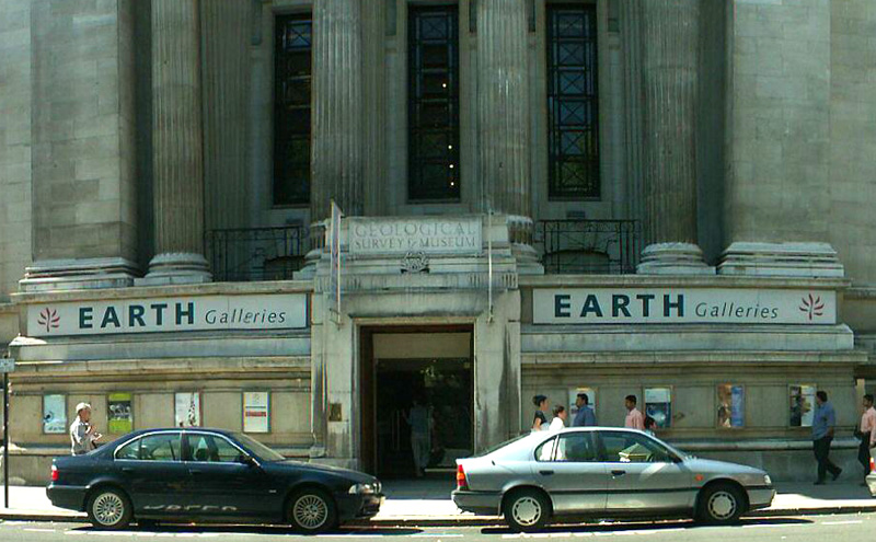 Earth Galleries, part of the Natural History Museum, entrance on Exibition Road.