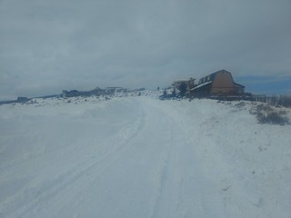 Drifts in front of the house