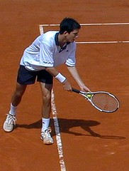 Tim Henman fotografert av undertegnede i French Open 2001