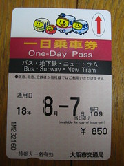 One-day Subway pass