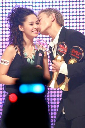 Andy Lau kissing Gillian Chung, TWINS