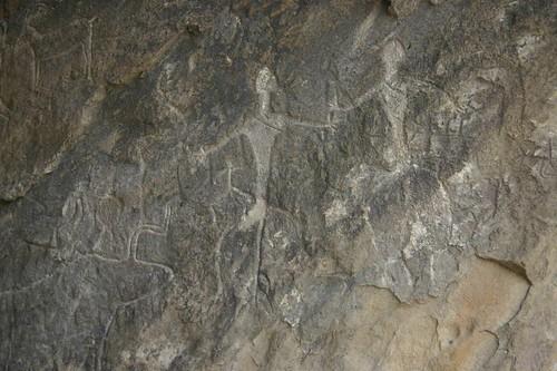 Petroglyffs near Qobustan, Azerbaijan