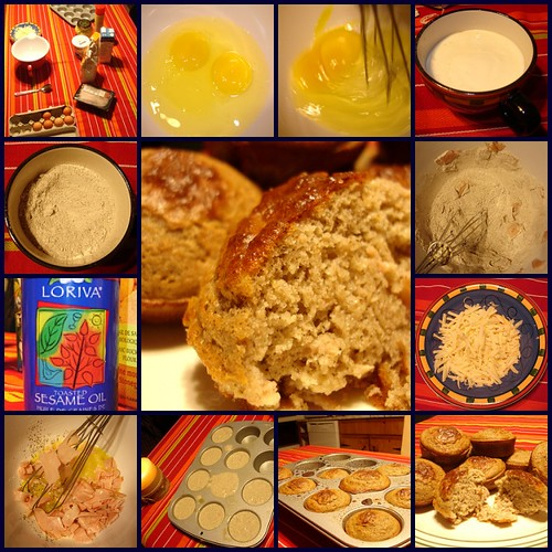 Muffin sarazin jambon fromage