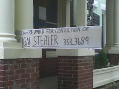 sign stealer sign