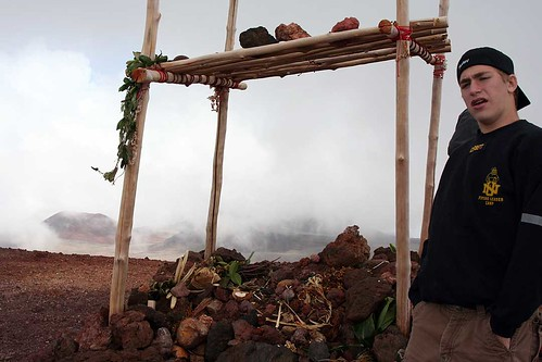 Taylor at Summit of Mauna Kea