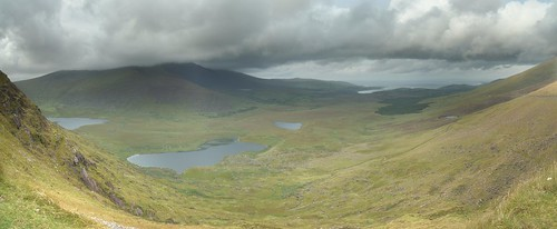 Panorama from the Connor Pass, Dingle