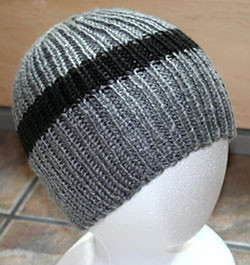 Knitting Patterns Images : FO: 1 1 Ribbed Hat Plus the Pattern Kis*Knit