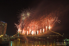 Fireworks on the Story Bridge 4