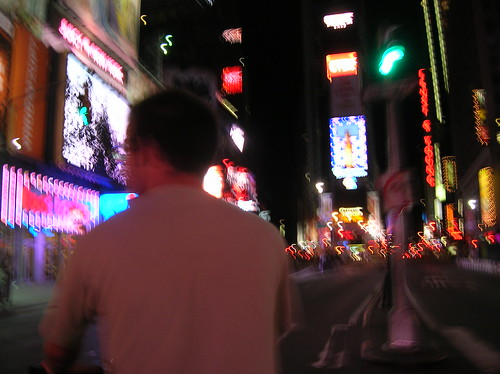 times square from pedicab
