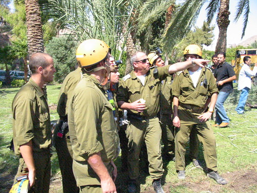 Israeli soldiers in Taba