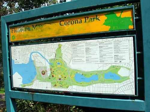 Flushing Corona Park Sign