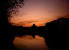 Roma all'alba