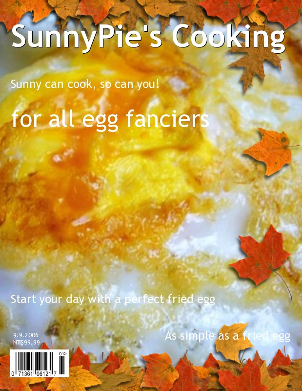 My creation - a Magazine Cover with my Fried Egg