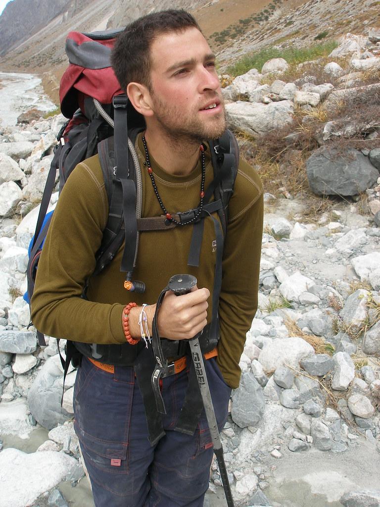 Liron, walking in the Ala-Archa Canyon, Kygyzstan
