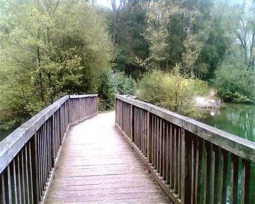 Brücke aus Holz