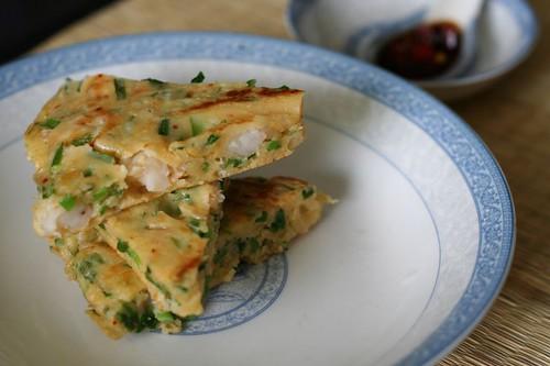 蝦仁韮菜煎餅