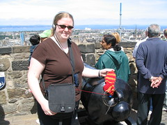 Me and my sock at Edinburgh Castle