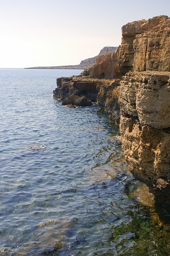 shore at Cape Grekko, Cyprus