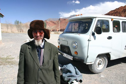 Tajik man on the Silk Road between Osh and Murgab...