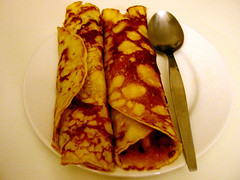 Crepe with Chunky Pawpaw Puree.