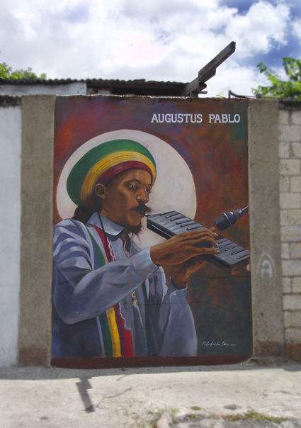 Augustus Pablo mural - Click for larger image