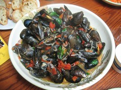 We had a big bowl of mussels for our anniversary dinner