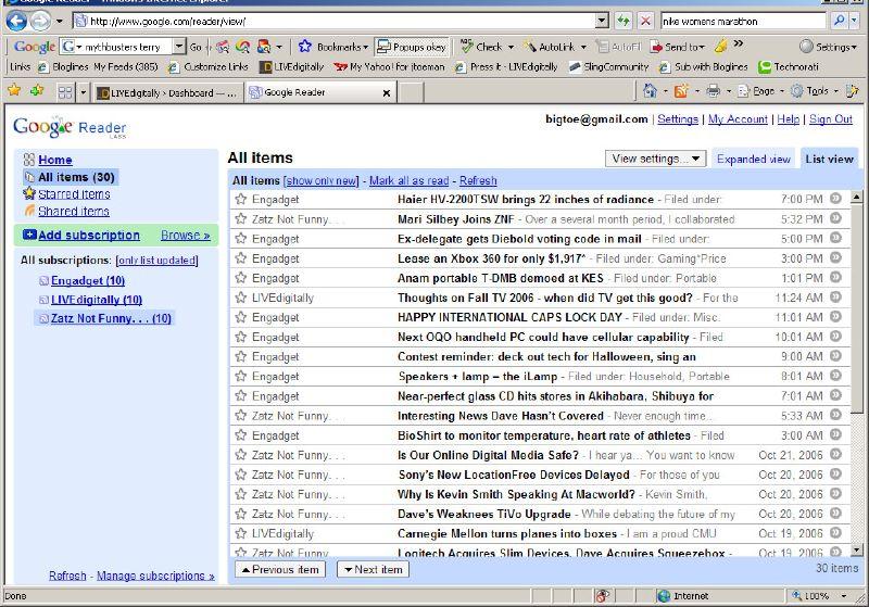 11google list view