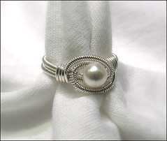 All Wrapped Up pearl ring
